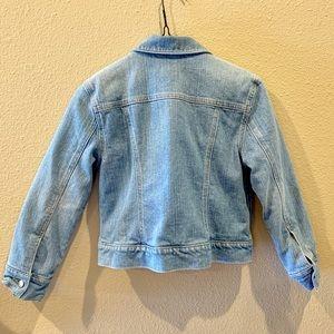 GAP Jackets & Coats - Gap faux fur lined blue jean jacket